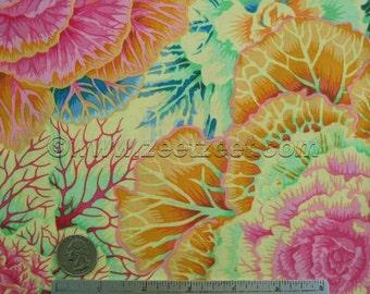 Kaffe Fassett BRASSICA YELLOW Pink Green Gp051 Quilt Fabric - by the Yard, Half Yard, or Fat Quarter FQ
