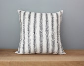 "18"" Organic Cotton Pillow - FEATHER - housewares - decorative - american made"