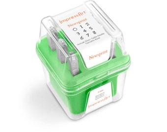 Newsprint Number Stamping Set, 3mm, SC1116A-3mm,  Number Stamps, Metal Stamps, Number Stamping Set, Steel Stamping Set, ImpressArt Stamp Set