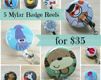 Badge ID Holder - Any 5 Retractable Badge Holders for 35 dollars