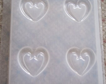 Scroll Hear Resin or Polymer Clay Mold  610