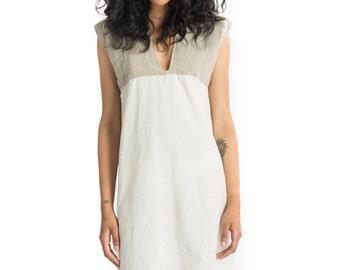 Pretty Birdie's Hemp and Organic Cotton Muslin and Sheer Hemp Linen Shift Dress