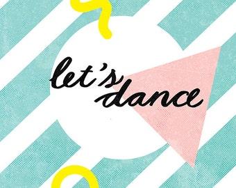 Let's Dance Archival Art Print