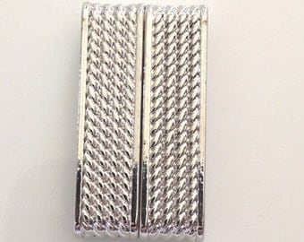 Silver Patterned Strong Magnetic Clasp 20mm x 47mm - M#AE