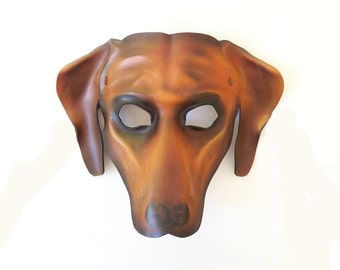 Leather Mask of a Rhodesian Ridgeback Dog could also be Great Dane Hound Vizsla