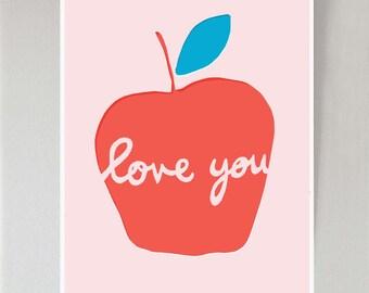 Apple Love You print