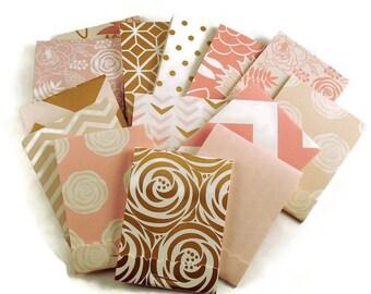 30  Matchbook Notepads  Matchbook Favors in  Blush Glam