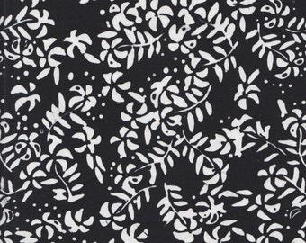 Anthology Batik 7251 Black White Flowers By The Yard