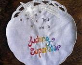 Rainbow Superstar embroidery