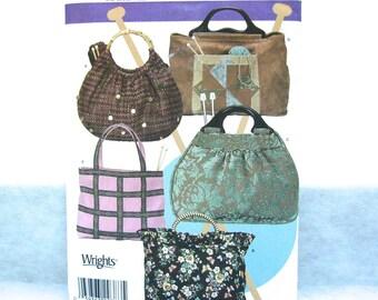 Simplicity Sewing Pattern BAGS Tote Handbag Knitting Shopping Beach 5 styles uncut, factory folds 2005