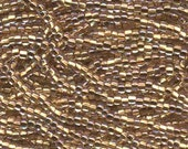 Czech Seed Beads 6/0 Bronze Lined Clear AB 31738 , Bronze Lined Crystal Clear AB Glass Seed Bead, Size 6/0 Seed Beads, 4mm Seed Beads