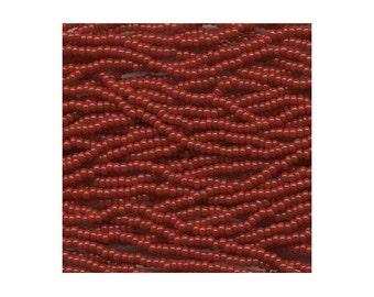 Czech Seed Beads 6/0 Opaque Dark Red 31720 , Dark Red Glass Seed Beads, Size 6/0 Seed Beads, Jablonex Seed Bead, 4mm Seed Beads