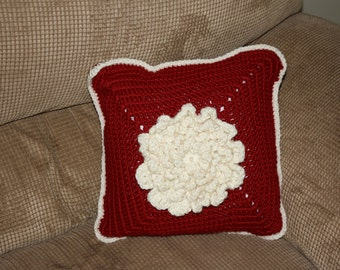 Never Ending Wildflower Crocheted Pillow