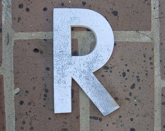 Vintage Metal Letter Sign Metal Letter R Sign Marquee Metal Letter R Sign Industrial Letter R Sign 6 Inches Tall