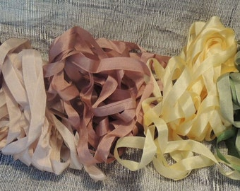 Gorgeous Pumpkin Silk Ribbon 25 yard pack 7mm width