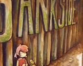 bankside - original painting