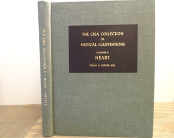1969 CIBA Collection of Medical Illustrations..Volume 5..The Heart..Frank H. Netter, M.D.  Hardcover Book