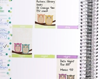Owl Decor Weekly Box Stickers Printable - Rainbow - Instant Download - to fit your Erin Condren