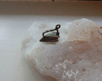 1940's Sterling Silver Flat Iron Charm