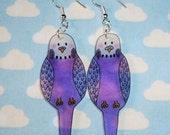 Tweet tweet how sweet lilac budgie earrings