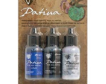 Vintaj Patina Kit, Twilight In Paris,Permanent,Fast Drying,Foar All Metals, V-45090