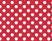 Riley Blake Designs - Le Creme Dots - Medium White Dots in Red C630-80