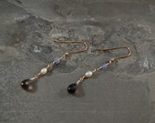 Winter Waves Links Collection - Druzy Agate - Gold - Silver - Smoky Quartz - Tanzanite - Pearl - One of a Kind