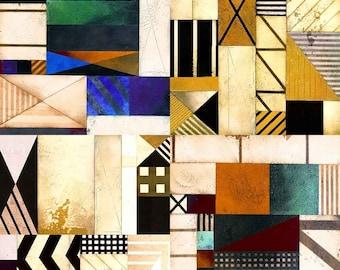 Geometric Shapes 10' x 10' Digital Printing Backdrop Photography Backgroud YHB-243