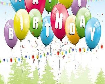 Colored Balloons 5' x 7' Digital Printing Backdrop Photography Backgroud YHA-532