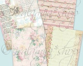 "VINTAGE DAYS  8.5"" x 11"" backgrounds Collage Digital Images -printable download file-"