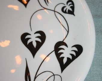 Mid Century Russel Wright Sterling China Plate Black Ivy Restaurant Ware ONLY 2 left