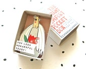SALE - The Instant Comfort Pocket Box - Dove with flowers