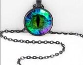 Dragon Eye Necklace, Dragon Eye Pendant, Fantasy Dragon Eye Wiccan Pagan Bohemian Gypsy Jewelry  Eye7