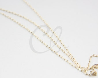 3 Feet Premium Gold Plated Brass Base Rectangle Cable Link Chain-1x2.5mm (427C08)(235SB4DC)