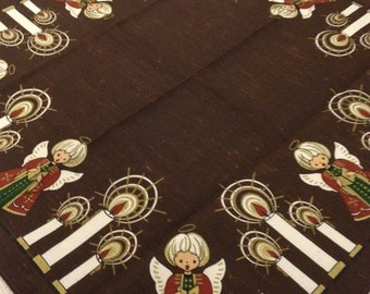 Vintage Christmas Tablecloth- Topper