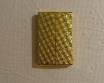 Magnetic Glue in Bar Clasp - Gold Textured clasp 40x25x6mm (35.5x3.6mm id )