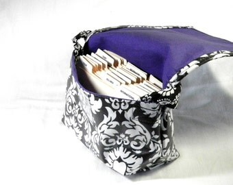 Fabric Coupon Organizer Mega Large Damask