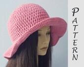 Wide Brim Sun Hat Crochet Pattern,  Hat Pattern,  Easy Pattern, Instant Download, Summer Hat PDF Pattern
