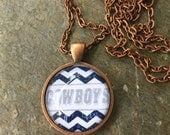 Dallas Cowboys NFL - glass pendant with chain