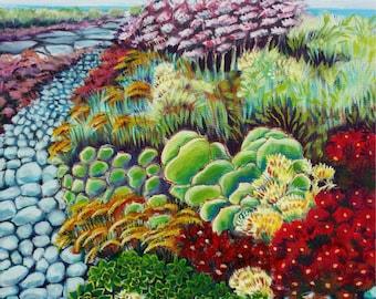 Pismo Beach Garden landscape painting