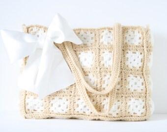 SALE! Crochet shoulderbag Sandy