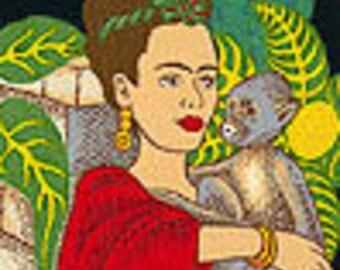 Frida's Garden Frida Kahlo Alexander Henry Cotton Fabric