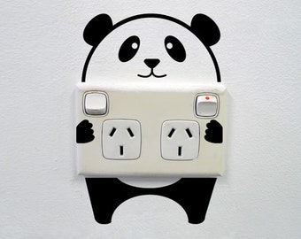 Panda Wall Decal for Powerpoints and Light switches