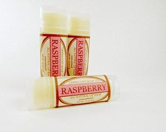 Raspberry Lip Balm - All Natural Lip Balm - Unsweetened Lip Balm - Phthalate Free - Berry Lip Balm - Beeswax Lip Balm - Gift for Her