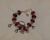 LadyBugs With Murano Beads Bracelet And Bonus Ring Discontinued 50% off