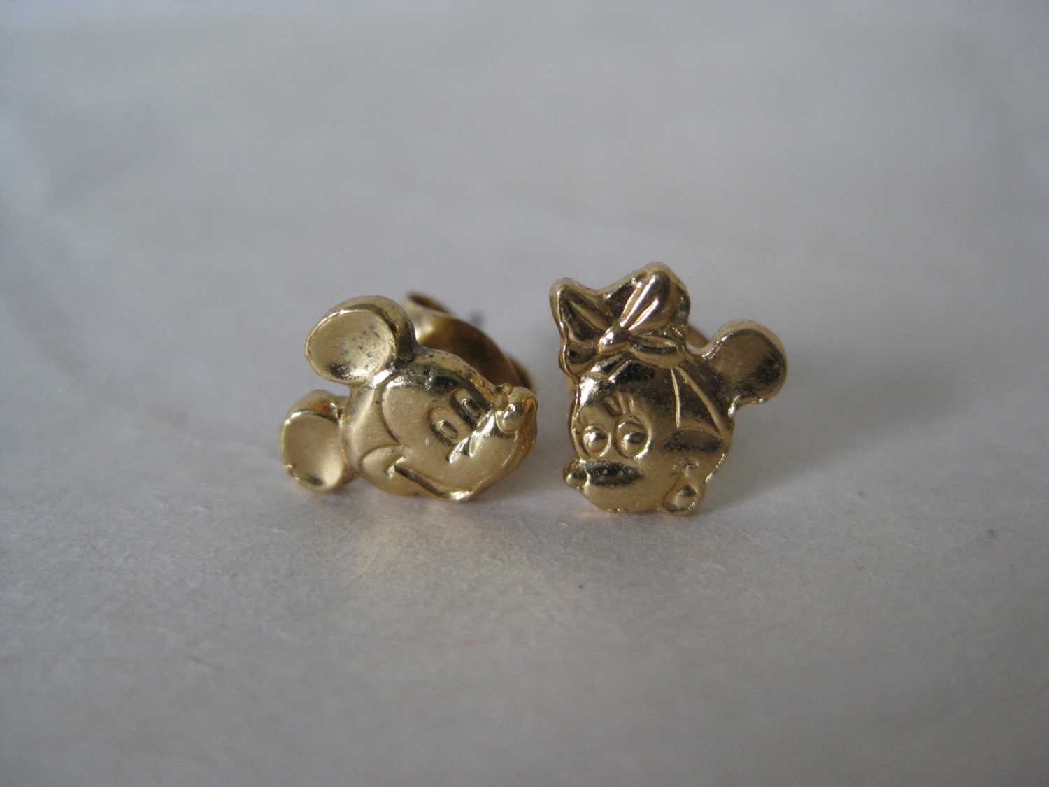 mickey mouse mini sterling gold earrings by