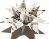 Moravian Stars - Recycled Sheet Music - Set of 5