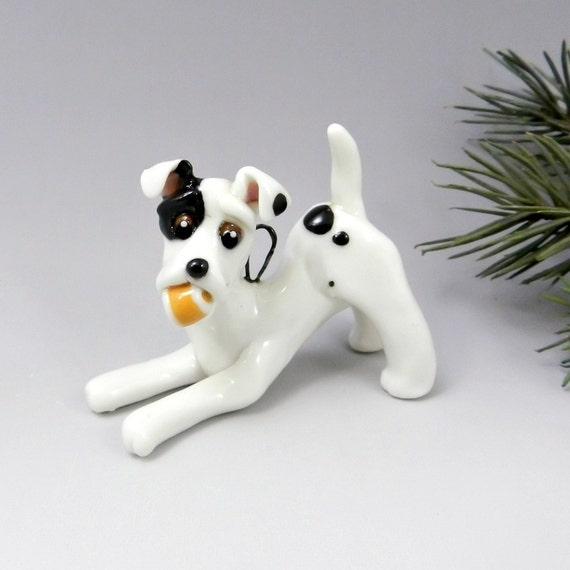 Jack Russell Terrier Christmas Ornament Figurine Ball