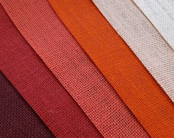 16 inch PEACH, Orange, Coral, RED, BURGUNDY or Ivory Burlap  -  3  yards