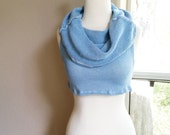Rise and Shine reversible cowl/cropped hemp sweater